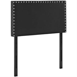 Modway Phoebe Faux Leather Upholstered Headboard in Black