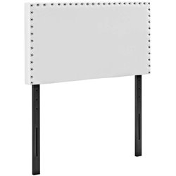 Modway Phoebe Faux Leather Upholstered Headboard in White