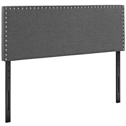 Modway Phoebe Fabric Upholstered Headboard in Gray
