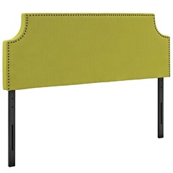 Modway Laura Fabric Upholstered Headboard in Wheatgrass