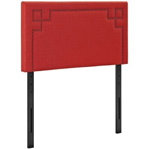 Modway Josie Fabric Upholstered Twin Headboard in Atomic Red