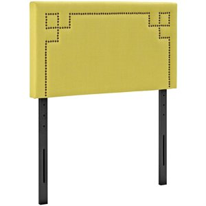 Modway Josie Fabric Upholstered Twin Headboard in Sunny