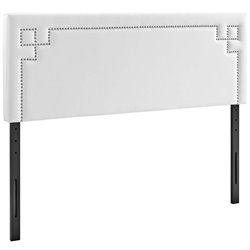 Modway Josie Faux Leather Upholstered Headboard in White