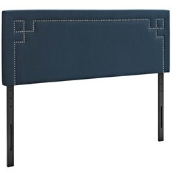 Modway Josie Fabric Upholstered Headboard in Azure