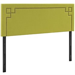 Modway Josie Fabric Upholstered Headboard in Wheatgrass