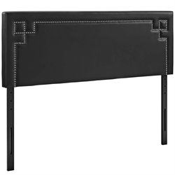 Modway Josie Faux Leather Upholstered Headboard in Black