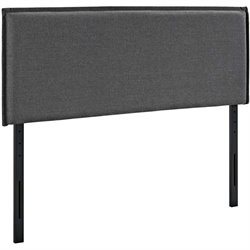 Modway Camille Fabric Upholstered Headboard in Gray