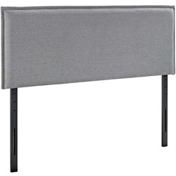 Modway Camille Fabric Upholstered Headboard in Light Gray