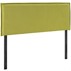 Modway Camille Fabric Upholstered Headboard in Wheatgrass