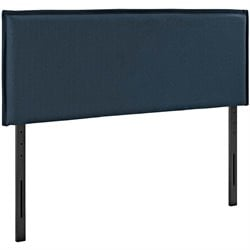 Modway Camille Fabric Upholstered Headboard in Azure