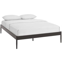 Modway Elsie Platform Bed in Brown
