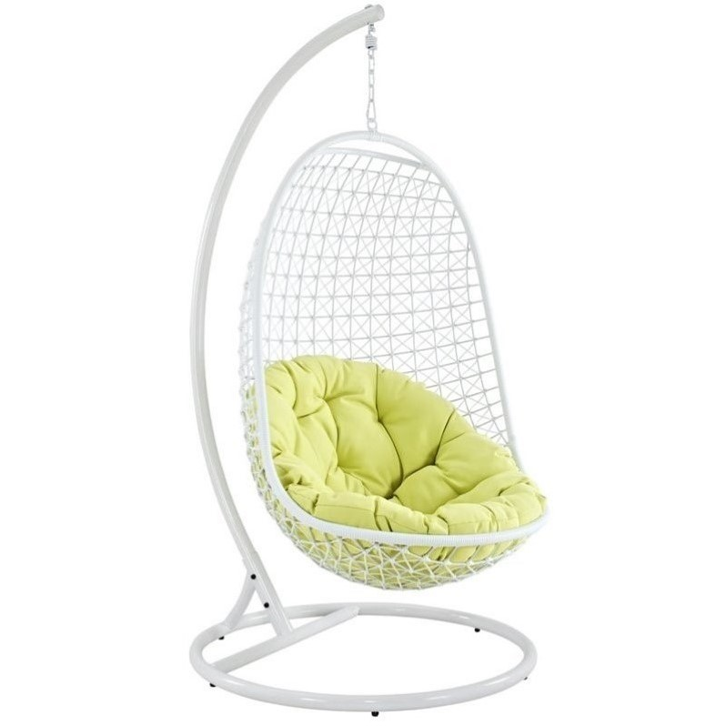 modway encounter patio swing chair in white - Patio Swing Chair