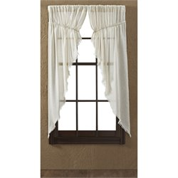 VHC Brands Tobacco Cloth Natural Rod Pocket Prairie Curtain (Set of 2)