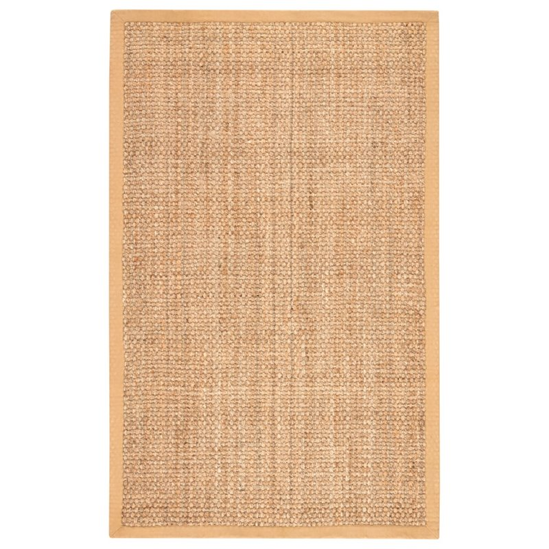 Jaipur Living Naturals Lucia 9' x 12' Jute Rug in Taupe and Tan