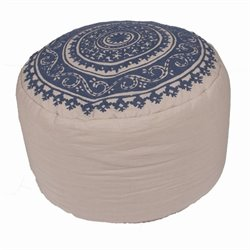 Jaipur Rugs Inspired By Jennifer Adams Cotton Cylinder Pouf