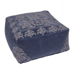 Jaipur Rugs Inspired By Jennifer Adams Cotton Pouf in Blue