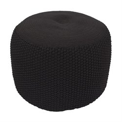 Jaipur Rugs Rustic Polypropylene Pouf in Black