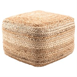 Jaipur Rugs Saba Jute Pouf in Taupe and Tan