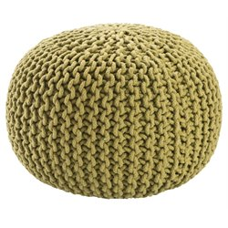 Jaipur Rugs Spectrum Cotton Cylinder Pouf in Green