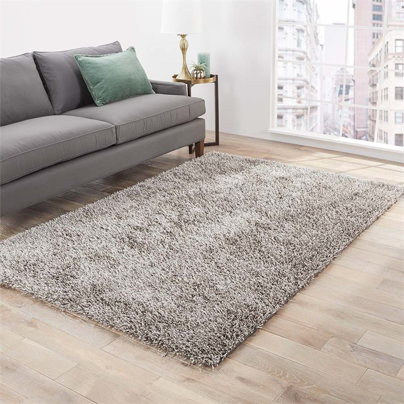 Jaipur Living Flux 9' x 12' Shag Area Rug in Silver