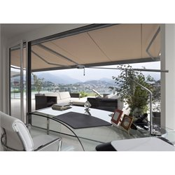 Classic Manual Retractable Patio Awning in Umber