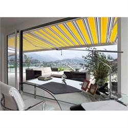 Luxury Electric Retractable Patio Awning in Yellow