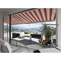 Luxury Electric Retractable Patio Awning in Red