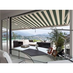 Luxury Electric Retractable Patio Awning in Green