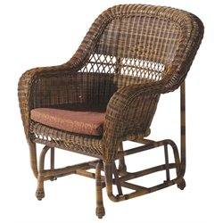 W Unlimited Jacksonville Patio Rocking Chair in Brown