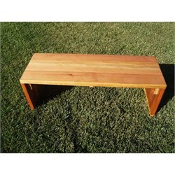 Best Redwood 3' Wood Patio Bench