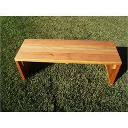 Best Redwood 4' Wood Patio Bench