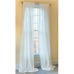 Manor Luxe Emily Accent Rod Pocket Curtain in White