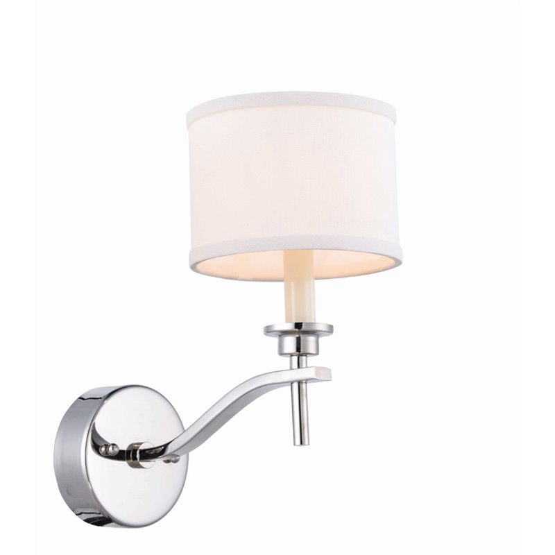 Wall Sconces Elegant : Elegant Lighting Segovia Wall Sconce in Polished Nickel - 1527W6PN
