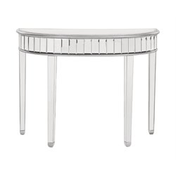 Elegant Lighting Chamberlan Mirrored Half Moon Console Table