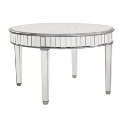 Elegant Lighting Chamberlan Mirrored Round Dining Table