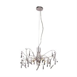 Galatic Royal Crystal Chandelier in Chrome