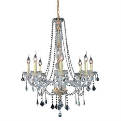 Verona Spectra Crystal Chandelier in Gold (A)
