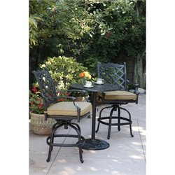 Darlee Camino Real 3 Piece Patio Pub Set in Antique Bronze