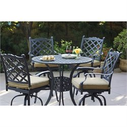 Darlee Camino Real 5 Piece Patio Pub Set in Antique Bronze
