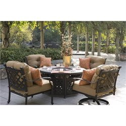 Darlee Camino Real 5 Piece Patio Dining Set in Antique Bronze