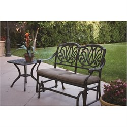 Darlee Elisabeth 2 Piece Patio Glider Bench Set in Antique Bronze