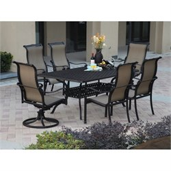 Darlee Monterey 7 Piece Patio Dining Set in Antique Bronze