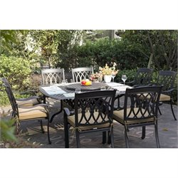 Darlee San Marcos 9 Piece Square Patio Dining Set in Antique Bronze