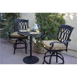 Darlee San Marcos 3 Piece Patio Counter Height Pub Set in Bronze
