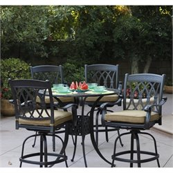 Darlee San Marcos 5 Piece Patio Pub Set in Antique Bronze
