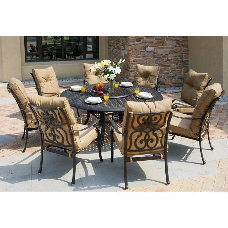 round outdoor dining sets. Interesting Dining Darlee Santa Anita 9 Piece Round Patio Dining Set In Antique Bronze To Outdoor Sets F