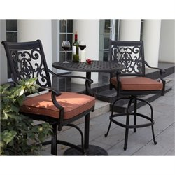 Darlee St. Cruz 3 Piece Patio Counter Height Pub Set in Antique Bronze