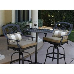 Darlee Ten Star 3 Piece Patio Pub Set in Antique Bronze