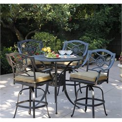 Darlee Ten Star 5 Piece Patio Round Pub Set in Antique Bronze