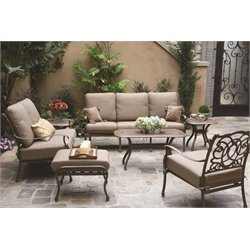 Darlee Florence 7 Piece Patio Sofa Set with Seat and Back Cushion